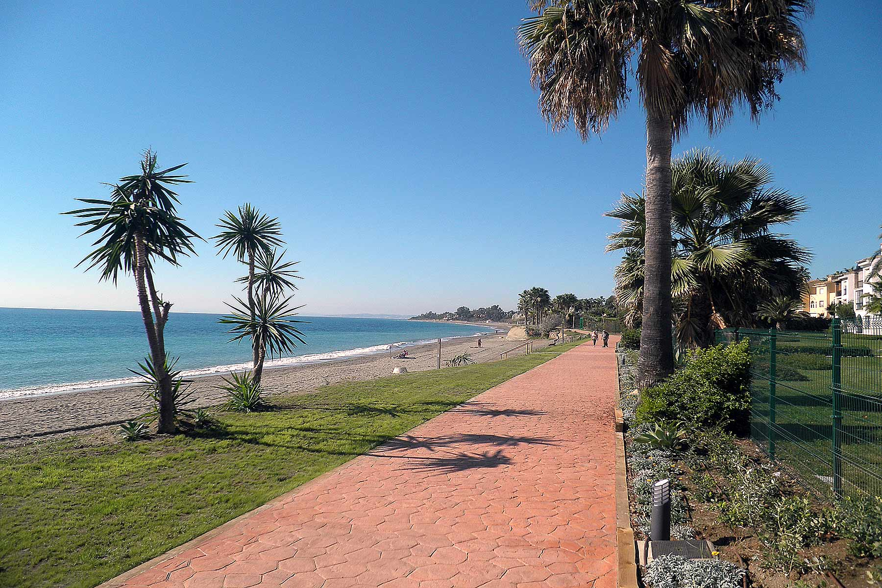 Holiday apartments Estepona Hacienda Beach sea side promenade