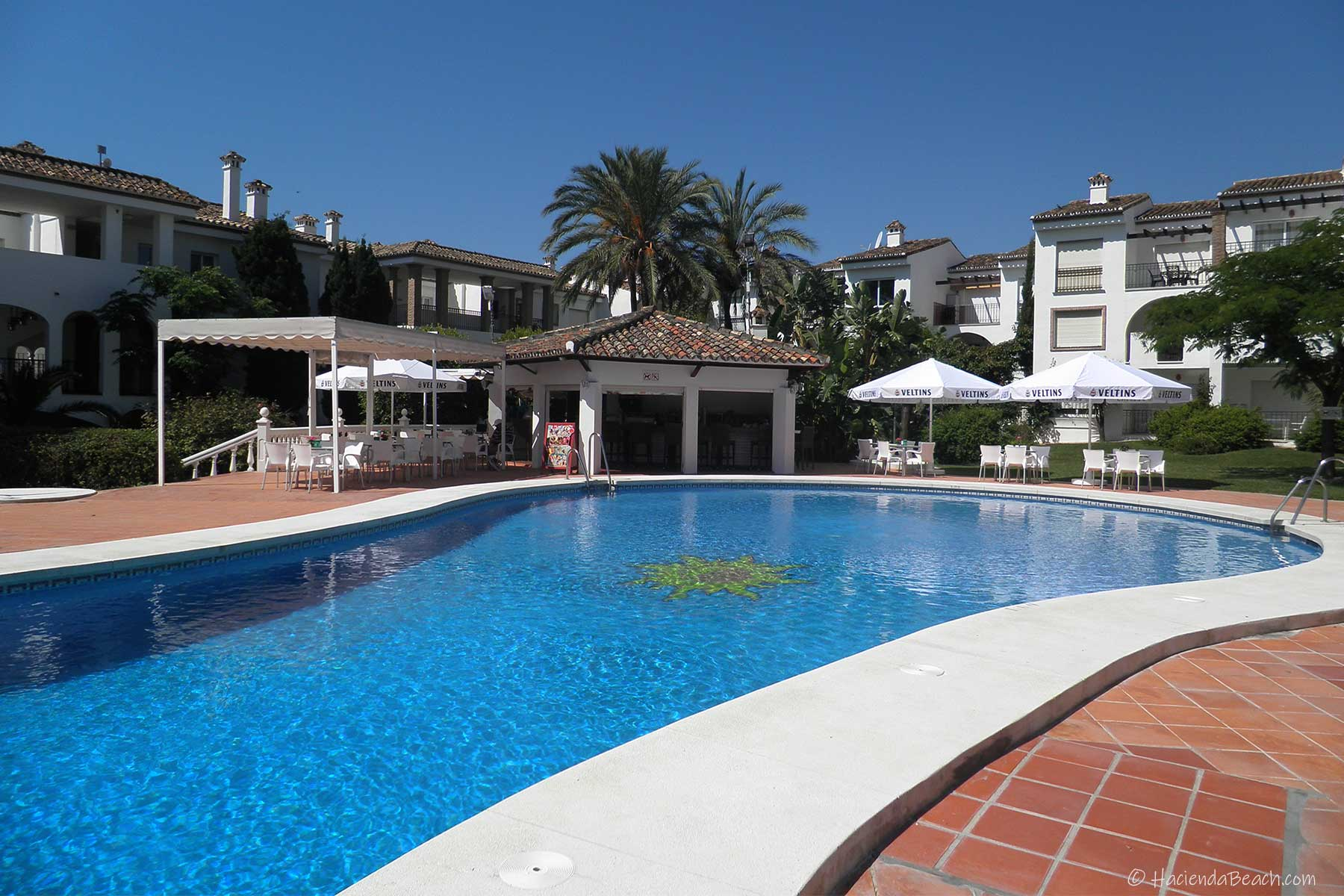 Hacienda Beach Estepona shared pool