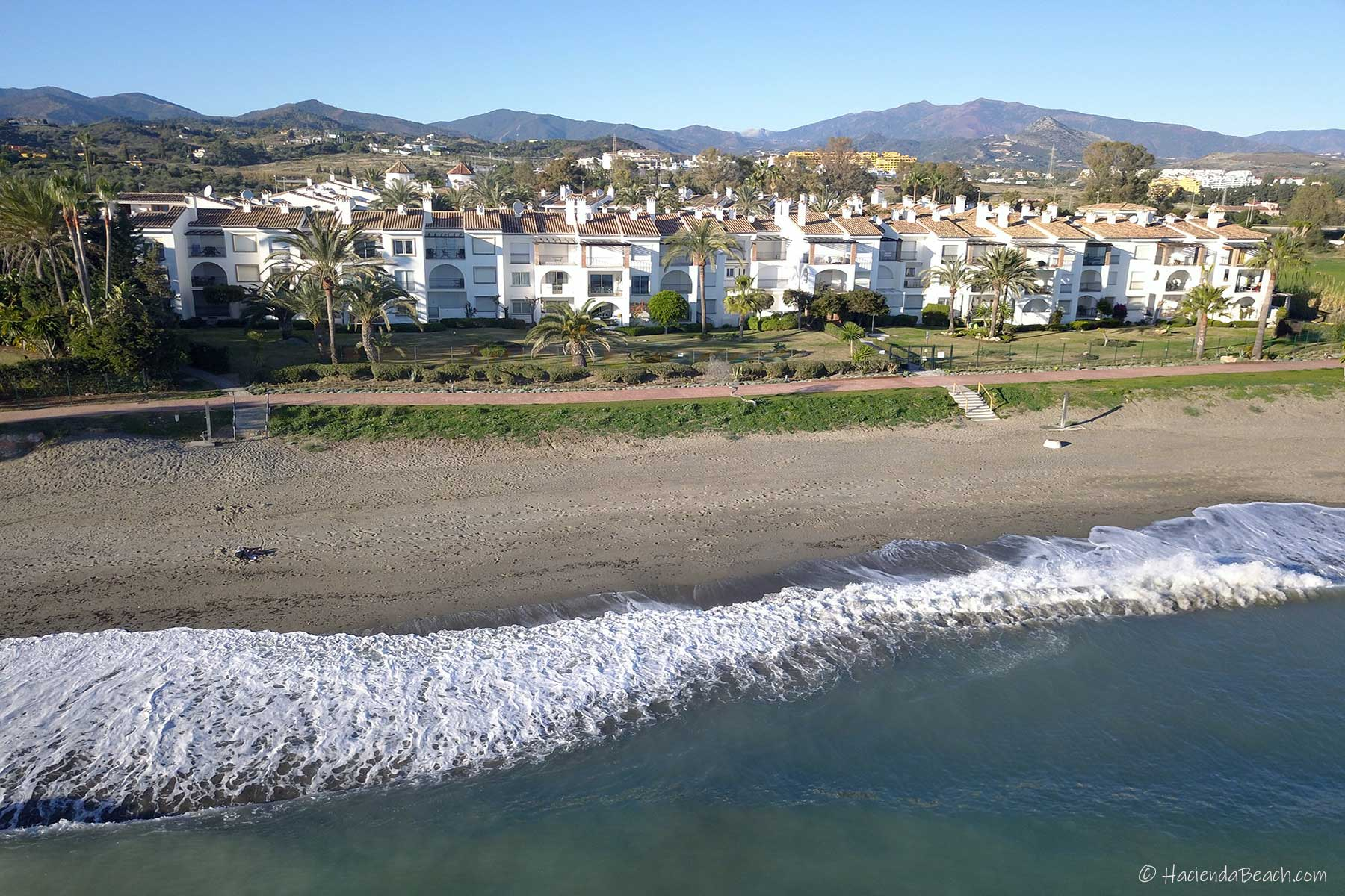 Hacienda Beach Estepona aerial views