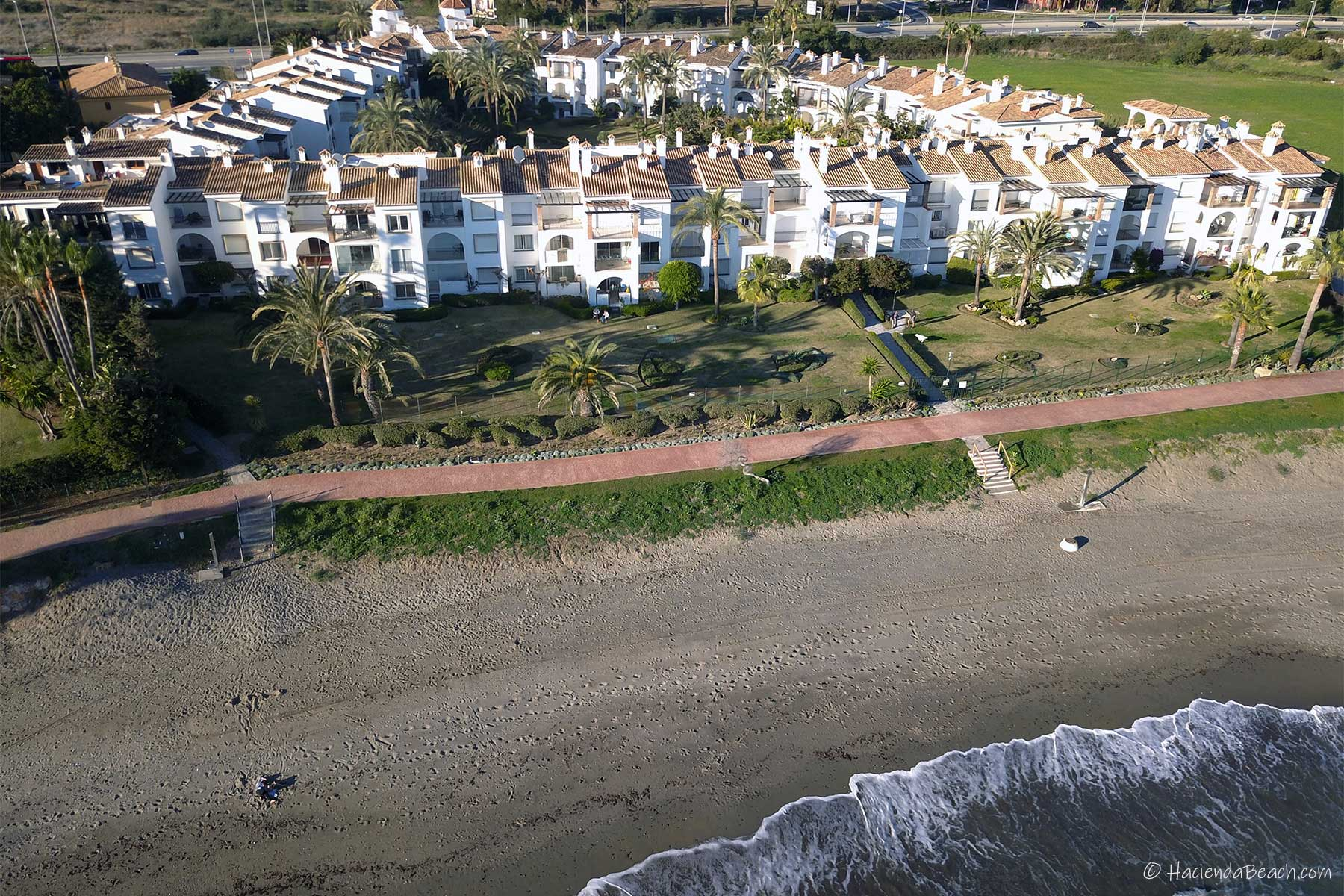 Hacienda Beach Estepona from the sea